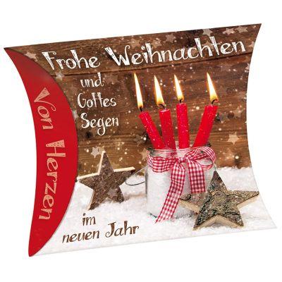 """Schafmilchseife Herz """"Frohe Weihnachten"""""""