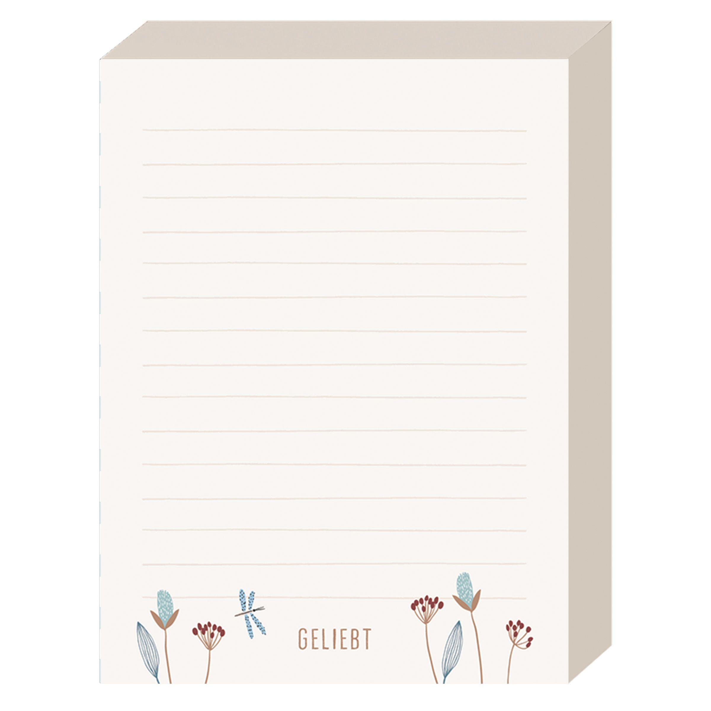 Schreibblock - Geliebt