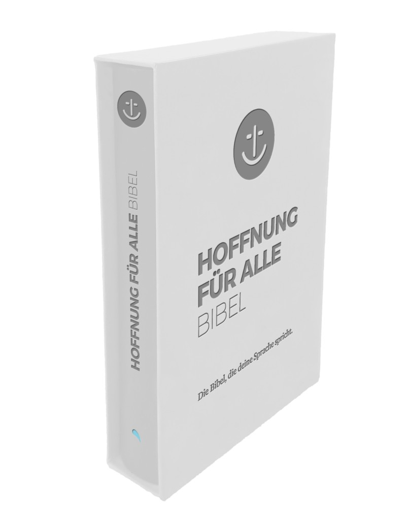 """Hoffnung für alle """"White Hope Geschenkbibel"""" - Großformat"""