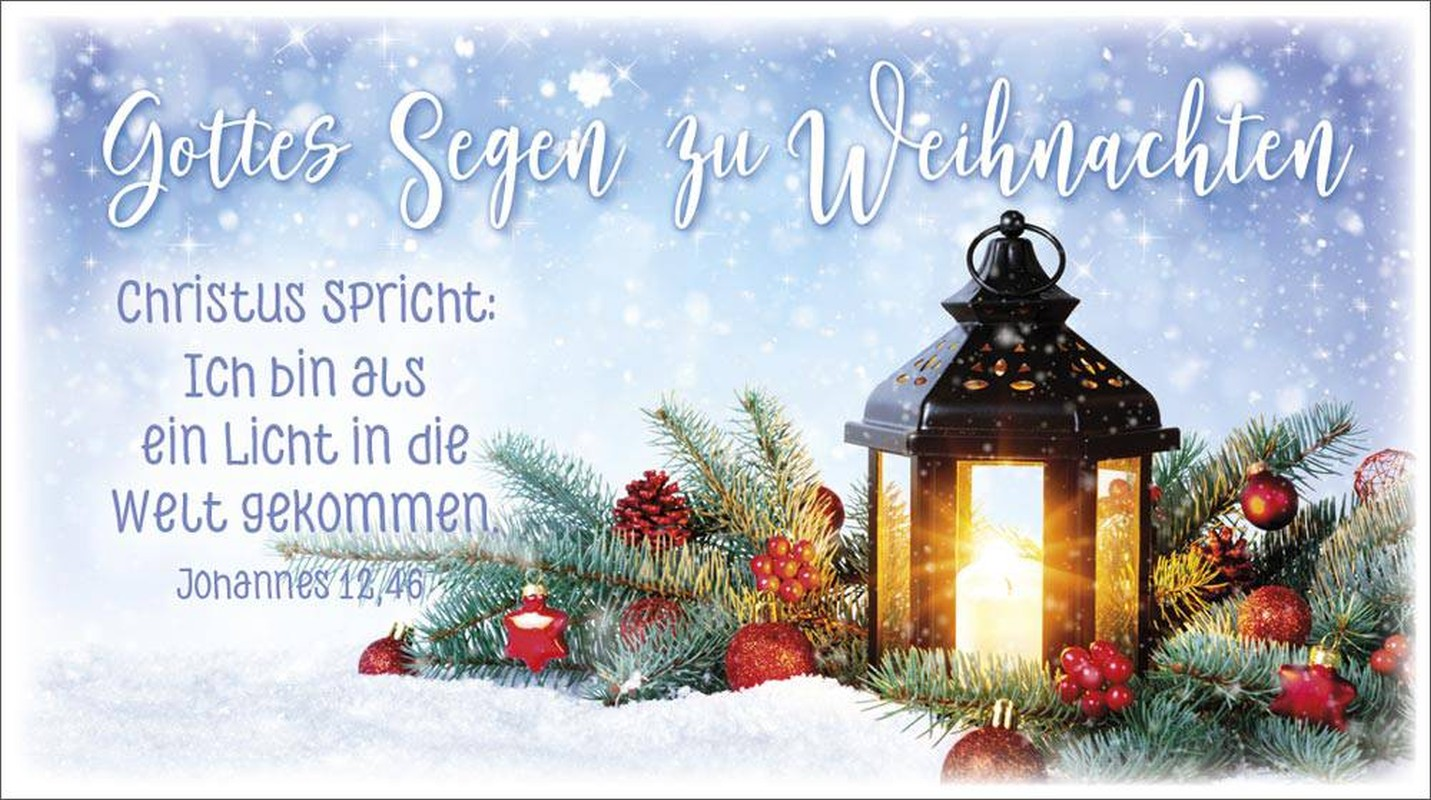 """Schokoladengrüße """"Gottes Segen zu Weihnachten"""" (40g)"""