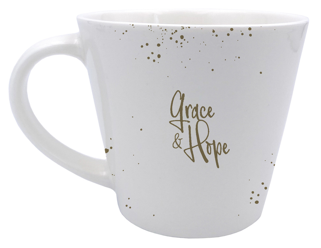 "Grace & Hope - Tasse ""He fills my life with good things"""