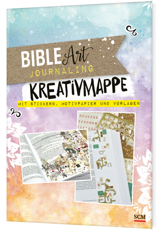 Bible Art Journaling. Kreativmappe mit Stickern, Motivpapier und Vorlagen