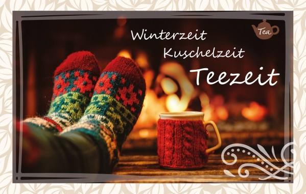 Teekarte - Winterzeit - Kuschelzeit - Teezeit