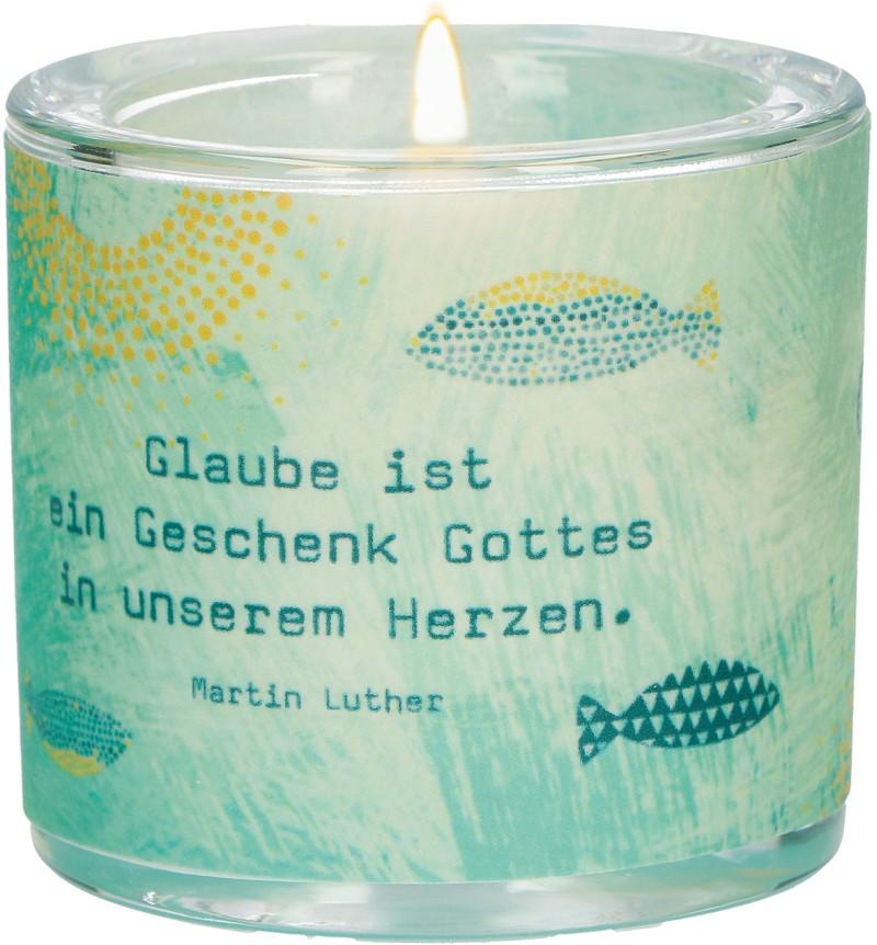 """Windlicht LichtMomente """"Glaube"""""""