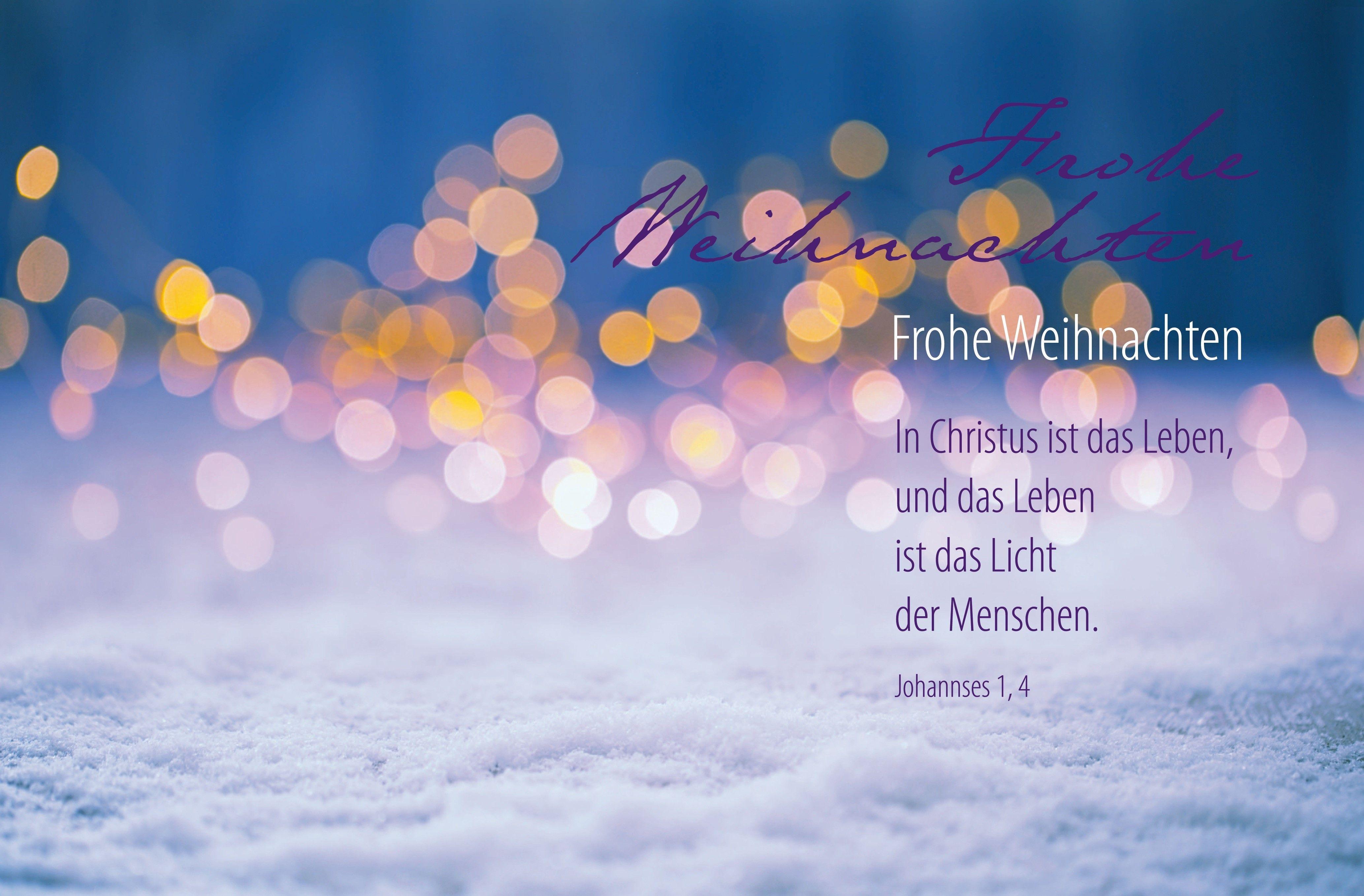 """Faltkarte """"Frohe Weihnachten"""" Joh. 1,4"""