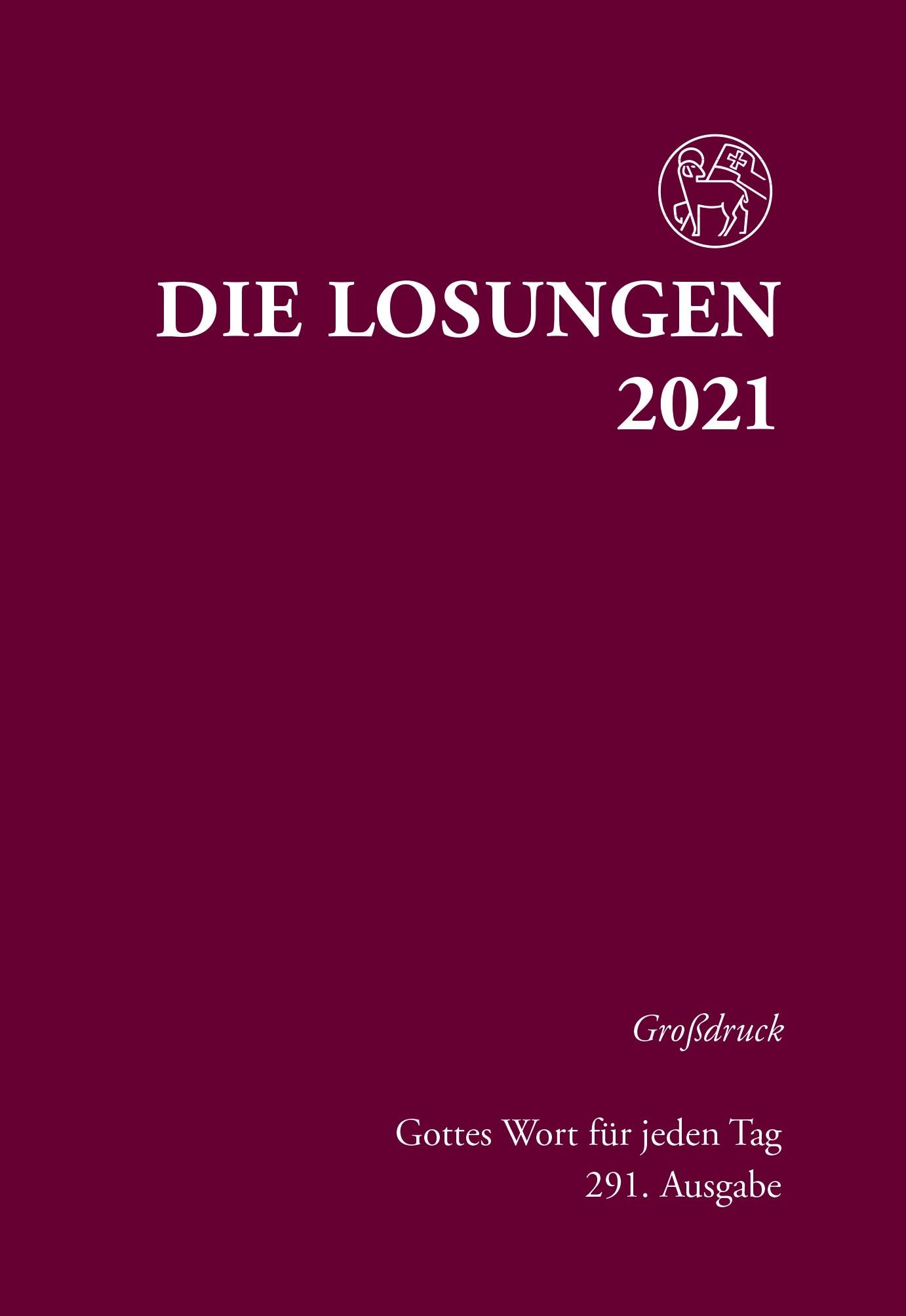 Losungen 2021 rot, Großdruck