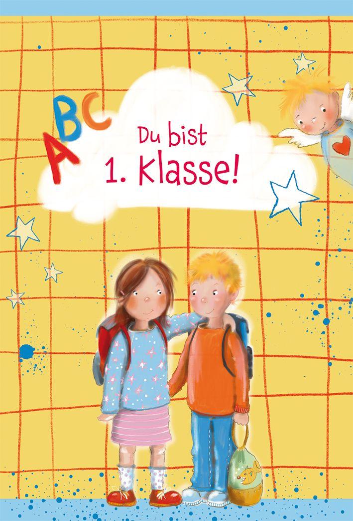 """Faltkarte """"Du bist 1. Klasse"""" - Schulanfang"""