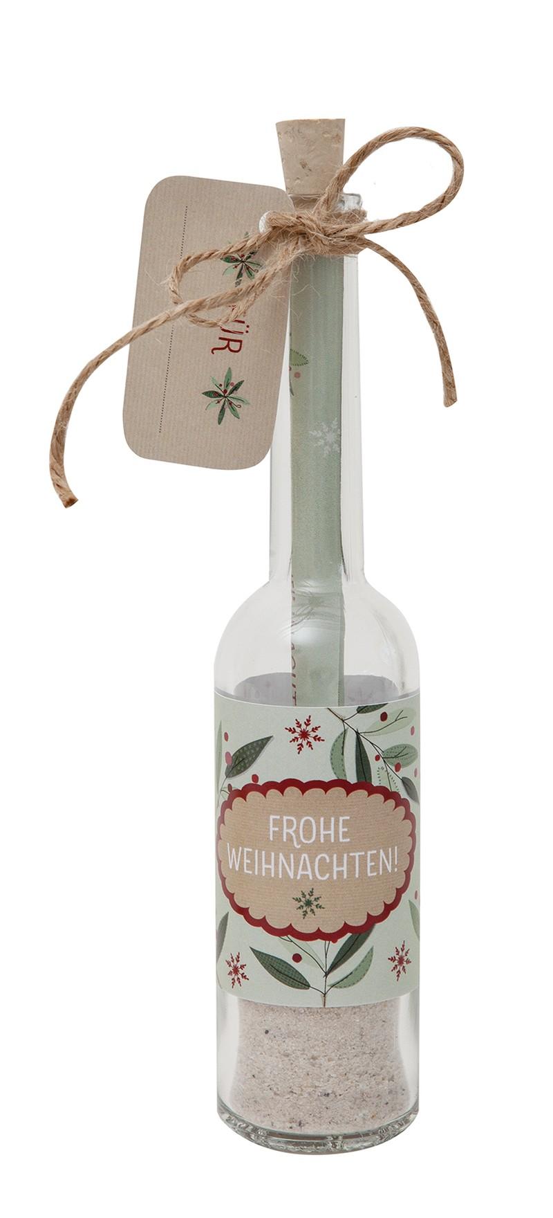 """Flaschengrüße - """"Frohe Weihnachten"""""""