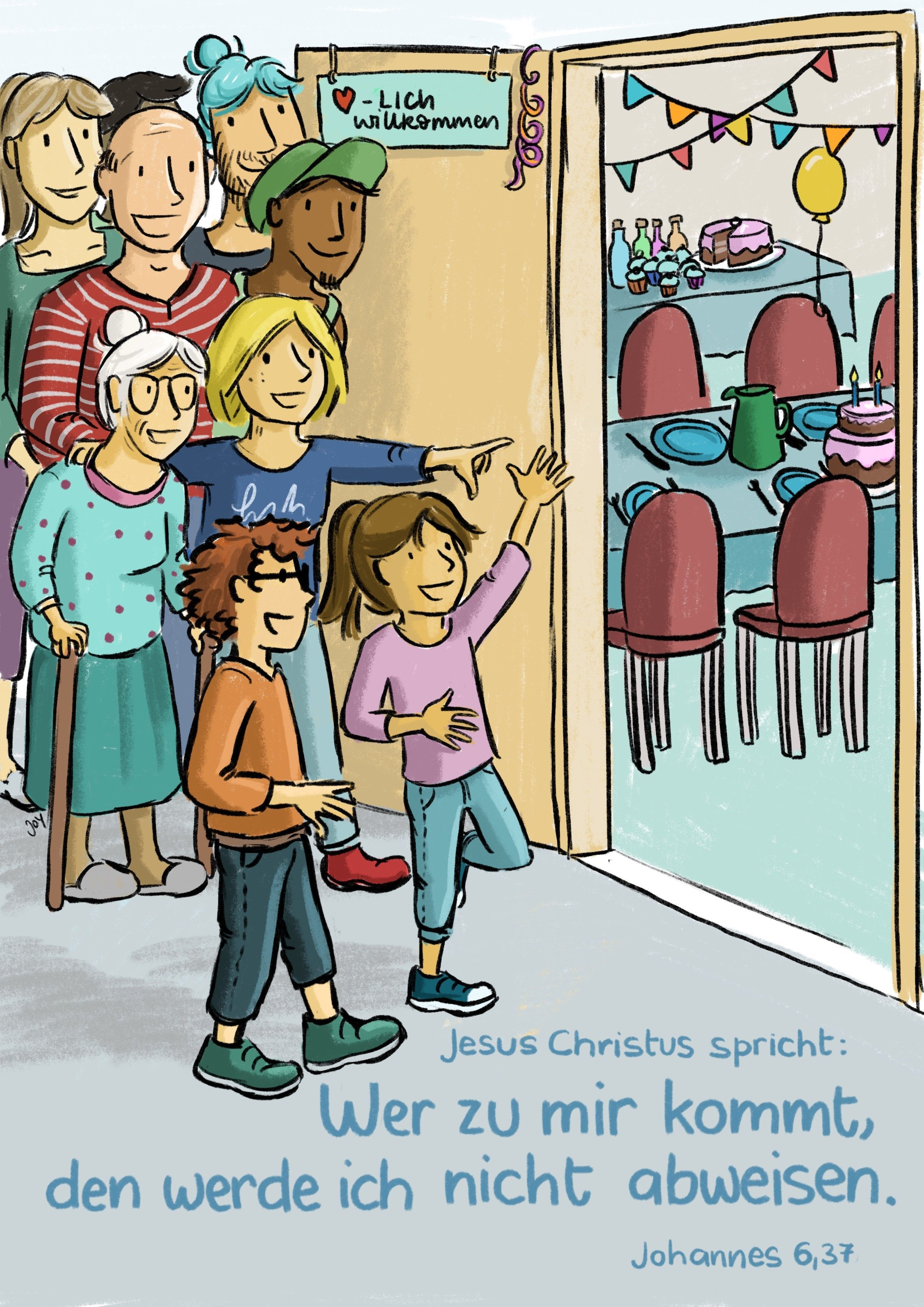 Jahreslosung 2022 - Kinder-Edition Postkarten 10 Stk.